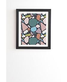 Deny Designs Stones Orderly 1 Framed Wall Art