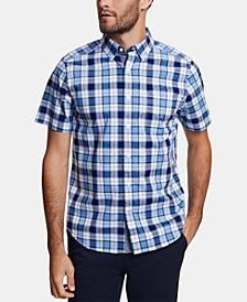 Men's Big & Tall Classic-Fit Stretch Plaid Shirt