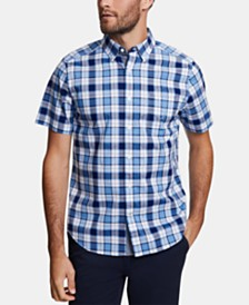 Nautica Men's Big & Tall Classic-Fit Stretch Plaid Shirt