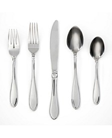 Evanston Mirror 45-Piece Flatware Set with Chrome Buffet, Service for 8