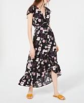 9c62a89c21e American Rag Juniors  Floral-Print High-Low Maxi Dress