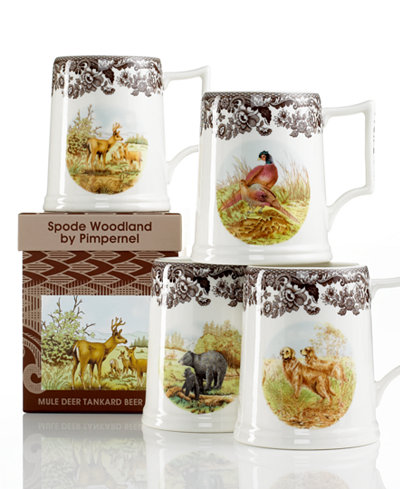 Spode Dinnerware, Woodland Tankard Beer Mug Collection