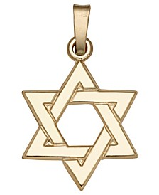 Star of David Pendant in 14k Yellow Gold