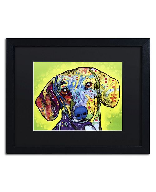 "Trademark Global Dean Russo 'Dachshund' Matted Framed Art - 16"" x 20"" x 0.5"""