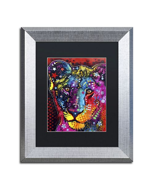 """Trademark Global Dean Russo 'Young Lion' Matted Framed Art - 14"""" x 11"""" x 0.5"""""""