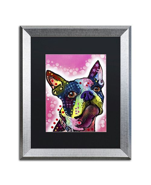 "Trademark Global Dean Russo 'Boston Terrier' Matted Framed Art - 20"" x 16"" x 0.5"""