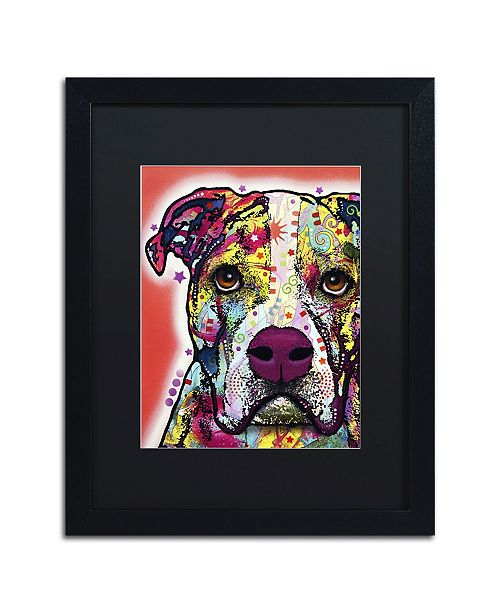 "Trademark Global Dean Russo 'American Bulldog' Matted Framed Art - 16"" x 20"" x 0.5"""