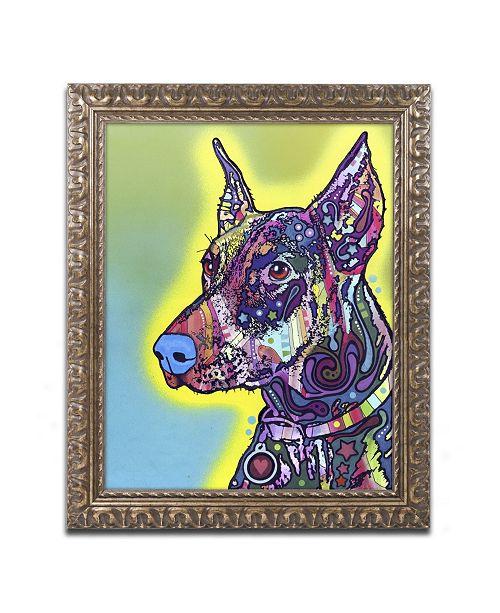 "Trademark Global Dean Russo 'Doberman' Ornate Framed Art - 14"" x 11"" x 0.5"""
