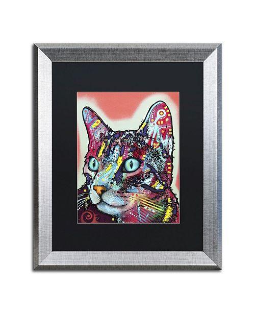 """Trademark Global Dean Russo 'Curious Cat' Matted Framed Art - 20"""" x 16"""" x 0.5"""""""