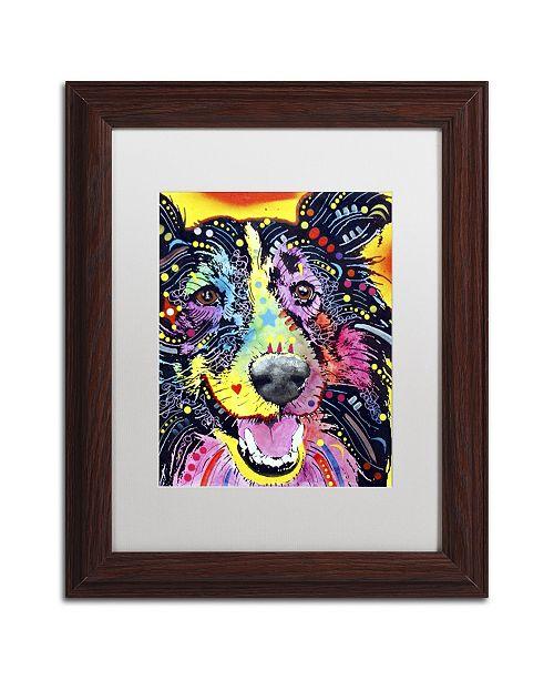 """Trademark Global Dean Russo 'Sheltie' Matted Framed Art - 14"""" x 11"""" x 0.5"""""""