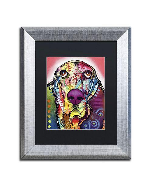 """Trademark Global Dean Russo 'Basset' Matted Framed Art - 14"""" x 11"""" x 0.5"""""""