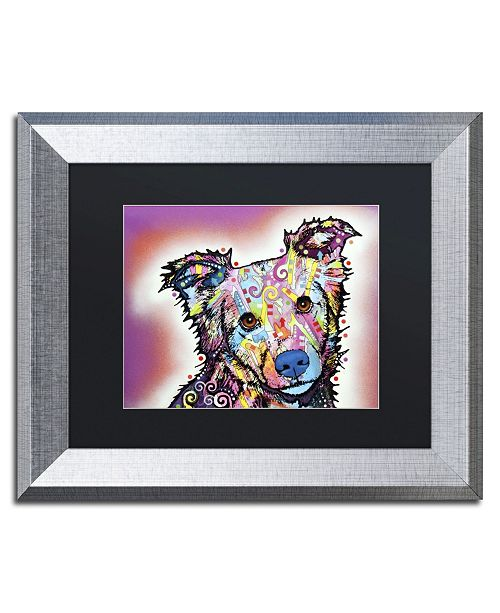 """Trademark Global Dean Russo 'Collied' Matted Framed Art - 14"""" x 11"""" x 0.5"""""""