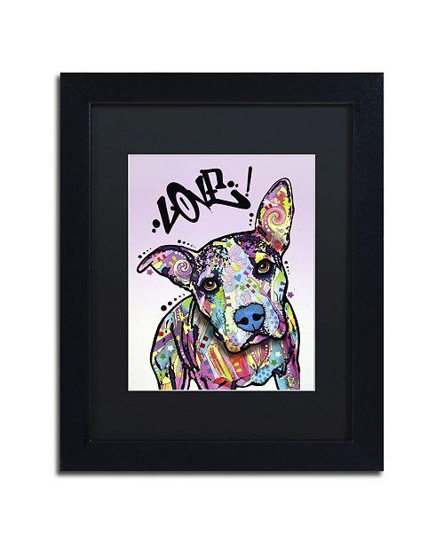 """Trademark Global Dean Russo 'Love!' Matted Framed Art - 11"""" x 14"""" x 0.5"""""""