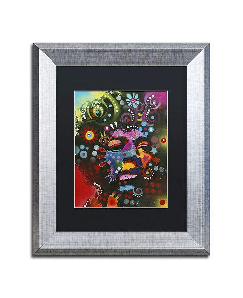 "Trademark Global Dean Russo 'Jimi Hendrix' Matted Framed Art - 14"" x 11"" x 0.5"""