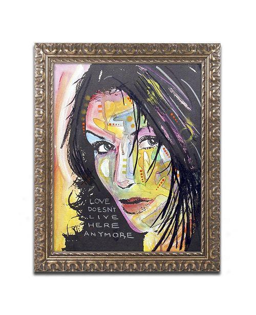"Trademark Global Dean Russo 'Love Doesn't Live Here' Ornate Framed Art - 14"" x 11"" x 0.5"""
