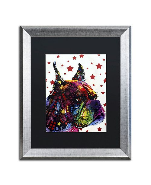 """Trademark Global Dean Russo 'Profile Boxer II' Matted Framed Art - 20"""" x 16"""" x 0.5"""""""