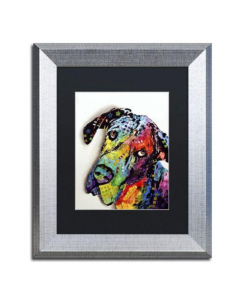 "Trademark Global Dean Russo 'Tilted Dane' Matted Framed Art - 14"" x 11"" x 0.5"""
