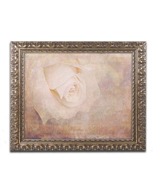 "Trademark Global Cora Niele 'Vintage Rose Card' Ornate Framed Art - 20"" x 16"" x 0.5"""