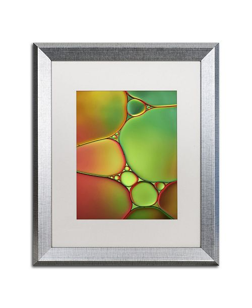"""Trademark Global Cora Niele 'Stained Glass II' Matted Framed Art - 20"""" x 16"""" x 0.5"""""""