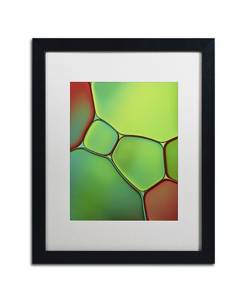 """Trademark Global Cora Niele 'Stained Glass IV' Matted Framed Art - 16"""" x 20"""" x 0.5"""""""
