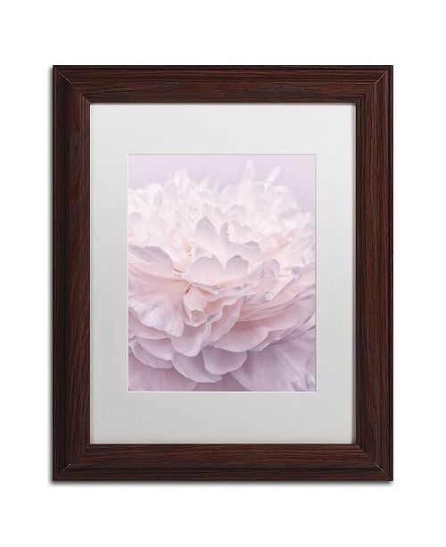 "Trademark Global Cora Niele 'Pink Peony Petals I' Matted Framed Art - 14"" x 11"" x 0.5"""