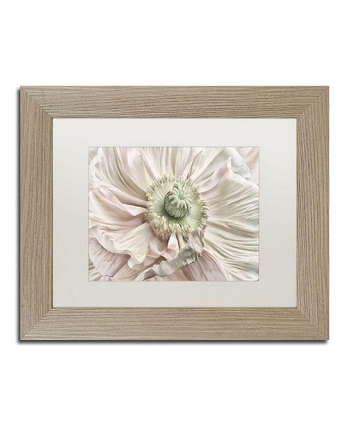 "Trademark Global Cora Niele 'Pink Poppy' Matted Framed Art - 14"" x 11"" x 0.5"""