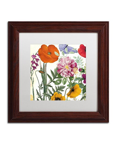 "Trademark Global Color Bakery 'Printemps II' Matted Framed Art - 11"" x 0.5"" x 11"""