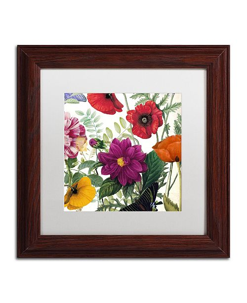 "Trademark Global Color Bakery 'Printemps III' Matted Framed Art - 11"" x 0.5"" x 11"""