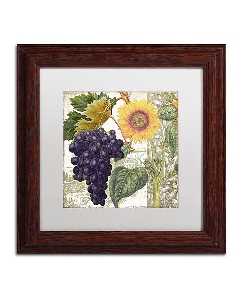 """Trademark Global Color Bakery 'Dolcetto I' Matted Framed Art - 11"""" x 0.5"""" x 11"""""""