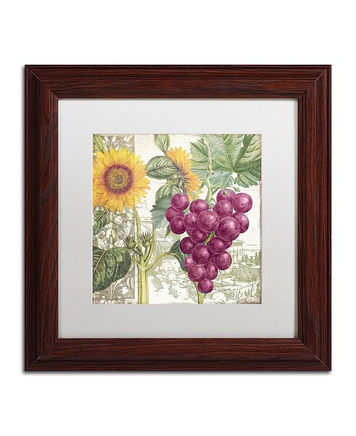 "Trademark Global Color Bakery 'Dolcetto II' Matted Framed Art - 11"" x 0.5"" x 11"""
