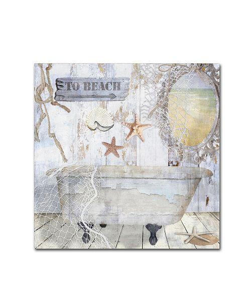"""Trademark Global Color Bakery 'Beach House I' Canvas Art - 35"""" x 2"""" x 35"""""""