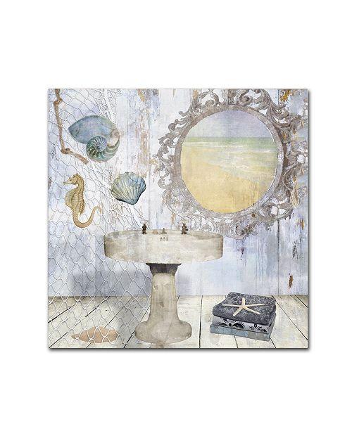 "Trademark Global Color Bakery 'Beach House II' Canvas Art - 35"" x 2"" x 35"""