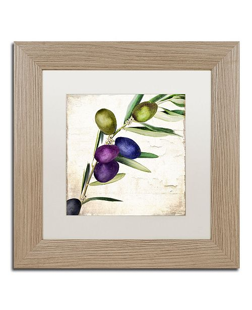 "Trademark Global Color Bakery 'Olive Branch III' Matted Framed Art - 11"" x 0.5"" x 11"""