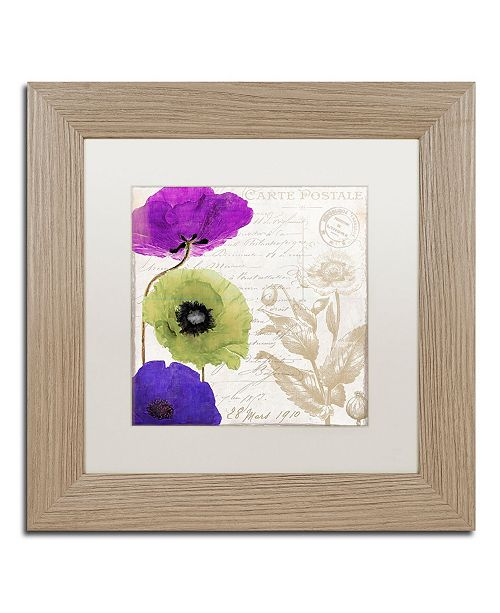 """Trademark Global Color Bakery 'Love Notes II' Matted Framed Art - 11"""" x 0.5"""" x 11"""""""