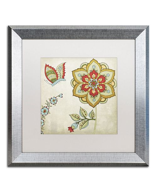 "Trademark Global Color Bakery 'Sasha I' Matted Framed Art - 16"" x 0.5"" x 16"""