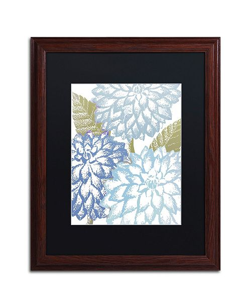 "Trademark Global Color Bakery 'Sea Dahlias I' Matted Framed Art - 16"" x 0.5"" x 20"""