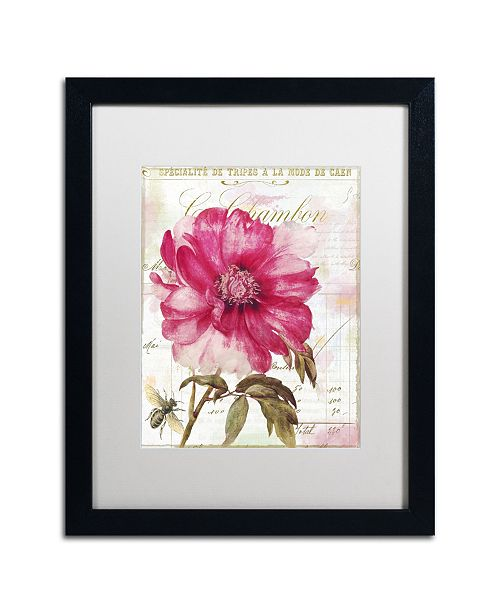 """Trademark Global Color Bakery 'Pink Peony' Matted Framed Art - 16"""" x 20"""" x 0.5"""""""