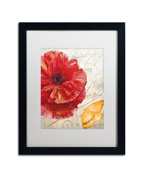 "Trademark Global Color Bakery 'Red Poppy' Matted Framed Art - 16"" x 20"" x 0.5"""