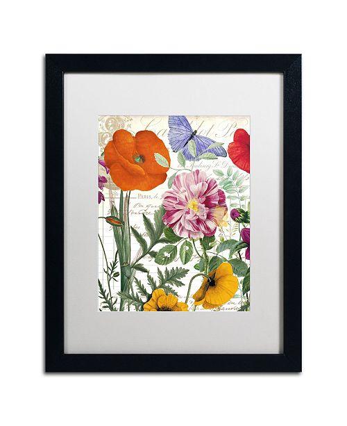 "Trademark Global Color Bakery 'Printemps' Matted Framed Art - 16"" x 20"" x 0.5"""
