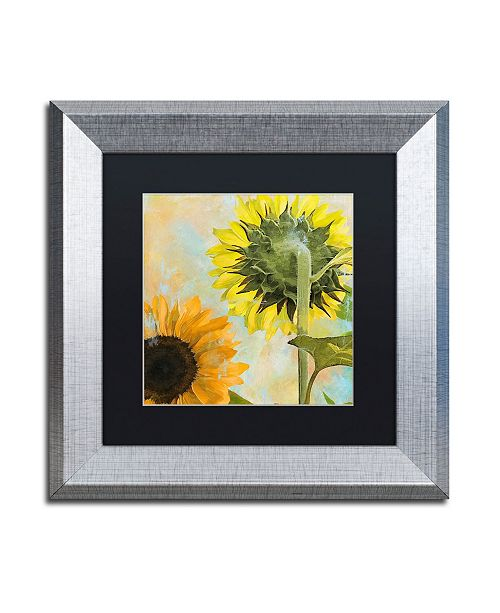 "Trademark Global Color Bakery 'Soleil II' Matted Framed Art - 11"" x 0.5"" x 11"""