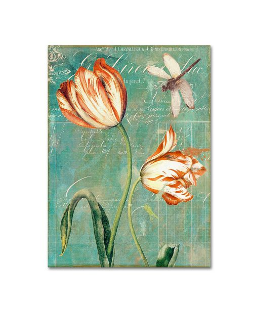 "Trademark Global Color Bakery 'Tulips Ablaze I' Canvas Art - 18"" x 2"" x 24"""
