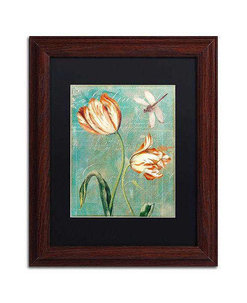 "Trademark Global Color Bakery 'Tulips Ablaze I' Matted Framed Art - 11"" x 0.5"" x 14"""