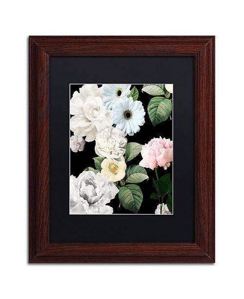 "Trademark Global Color Bakery 'Wallflowers' Matted Framed Art - 11"" x 0.5"" x 14"""