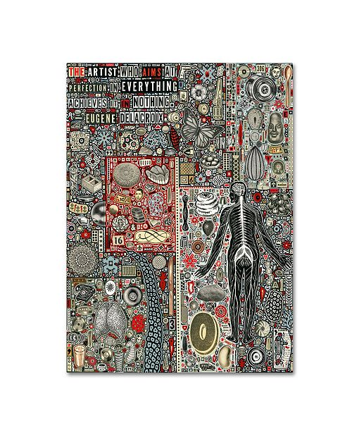"Trademark Global Colin Johnson 'Everything And Nothing' Canvas Art - 32"" x 24"" x 2"""