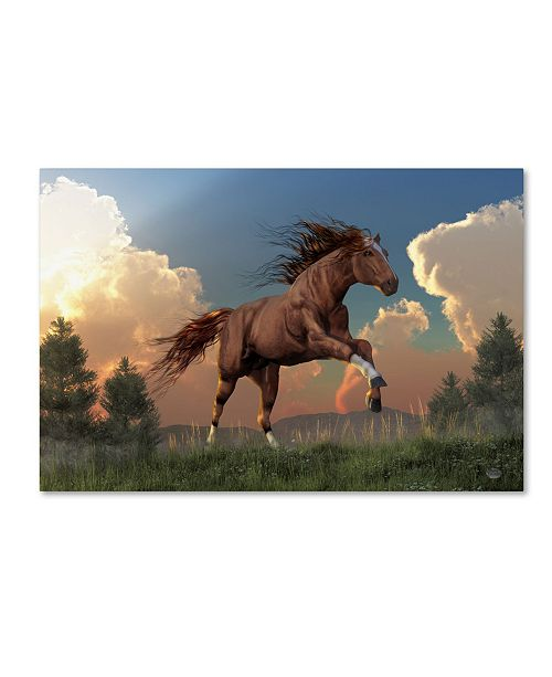"Trademark Global Daniel Eskridge 'Running Free' Canvas Art - 47"" x 30"" x 2"""