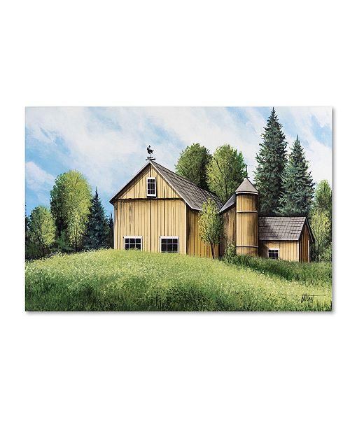 "Trademark Global Debbi Wetzel 'Yellow Barn Summer' Canvas Art - 19"" x 12"" x 2"""