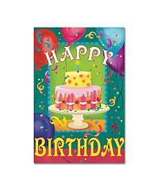 "Fiona Stokes-Gilbert 'Happy Birthday' Canvas Art - 24"" x 16"" x 2"""