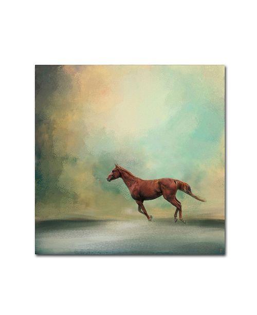 """Trademark Global Jai Johnson 'Arabian Run' Canvas Art - 35"""" x 35"""" x 2"""""""