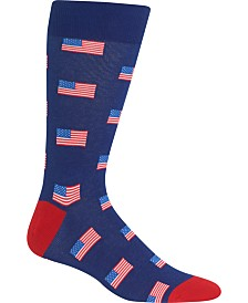Hot Sox Men's Socks, American Flag Crew