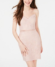 Juniors' Lace Bodycon Dress